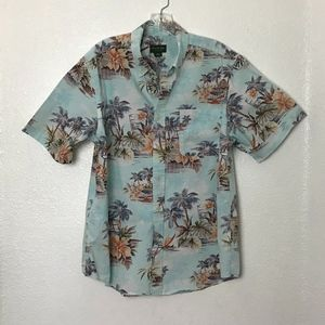 David Taylor Hawaiian Print Shirt Size L